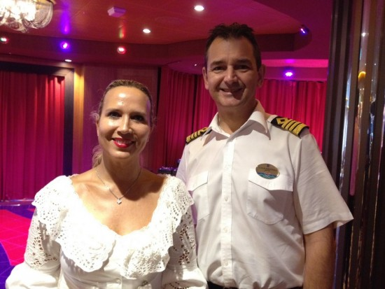 Karine Roy-Camille and Captain Claus Andersen