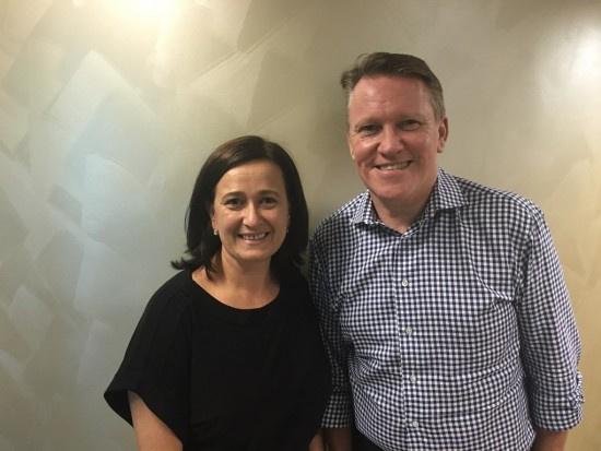 Steve Odell with NCL's Operations/Contact Centre Manager, Elizabeth Krstevski.