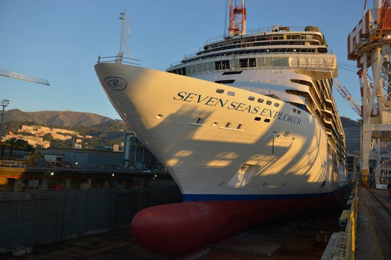Seven Seas Explorer is launched at Fincantieri in October of 2015