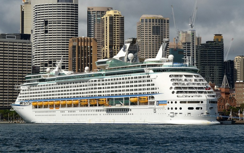 Voyager of the Seas docked in Sydney. (photo: Clyde Dickens)
