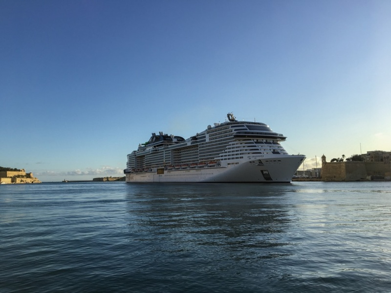 MSC Grandiosa in Valletta