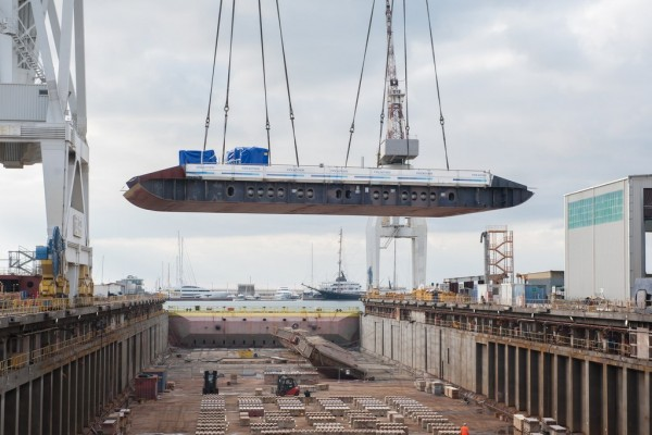 Keel Laying for Seabourn Ovation
