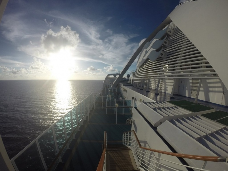 View off the Caribbean Princess