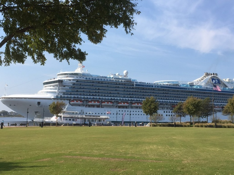The Caribbean Princess stops in Norfolk