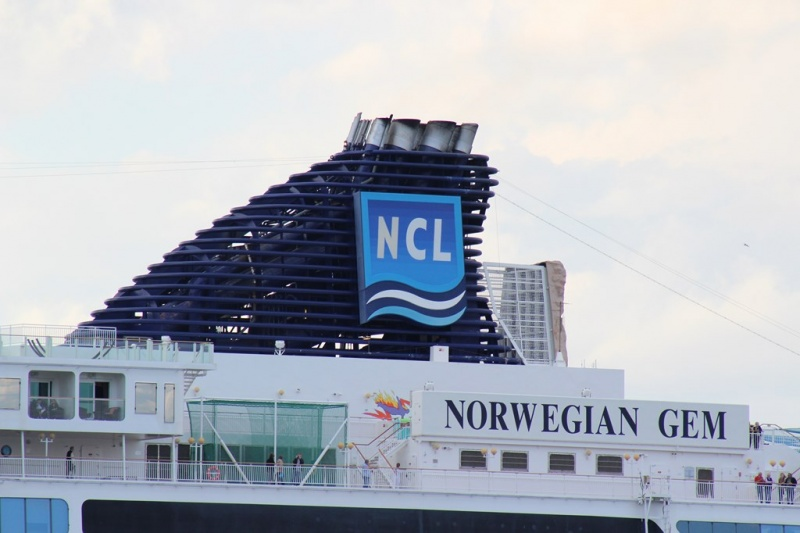 The Norwegian Gem has now added a scrubber system.