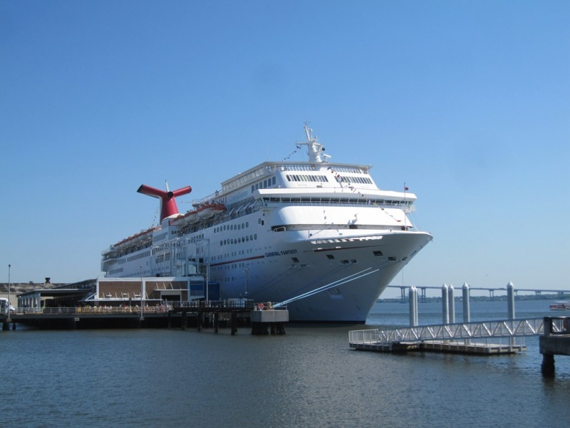 The Carnival Fantasy in Charleston, SC