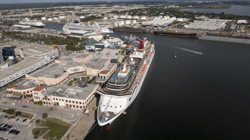 Carnival ship docked at Port Tampa Bay