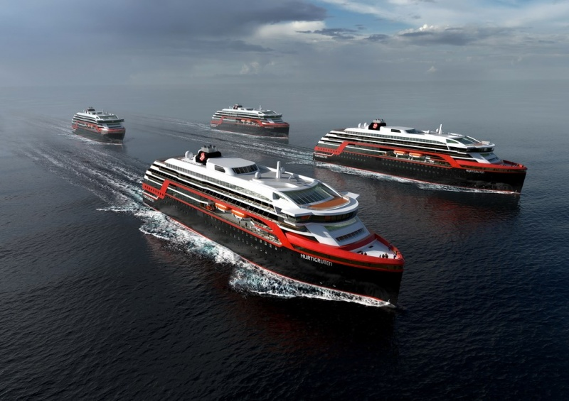 The new Hurtigruten ships are built on a Rolls-Royce platform.