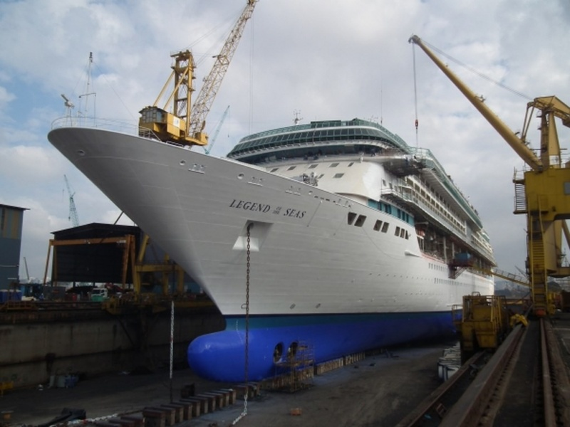 Legend of the Seas in Drydock