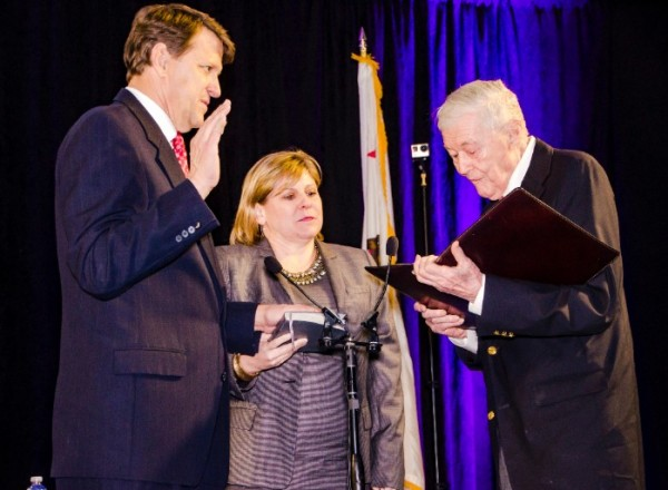 Marshall Merrifield, 2016 Chairman of the Board of Port Commissioners, was sworn in on Thursday, January 7, 2016 at a State of the Port event.