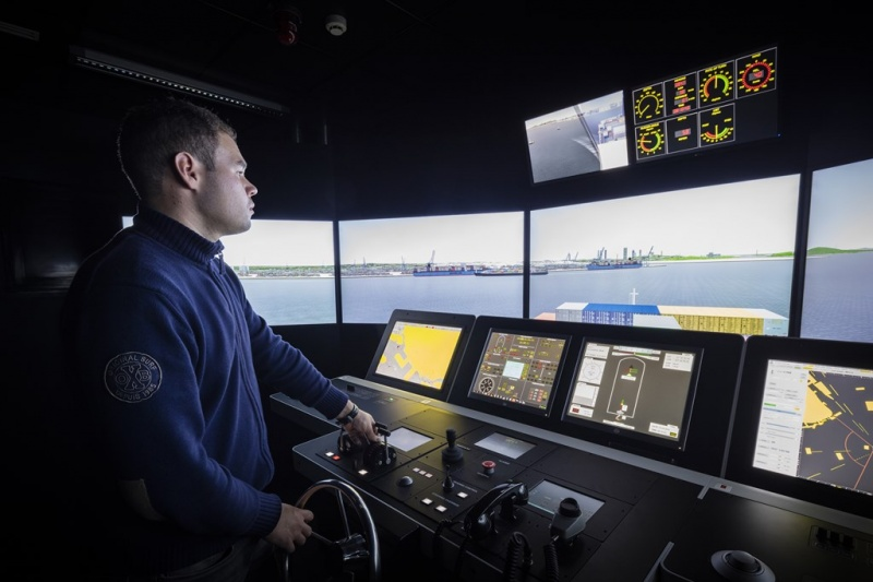 Students spend time on the simulator