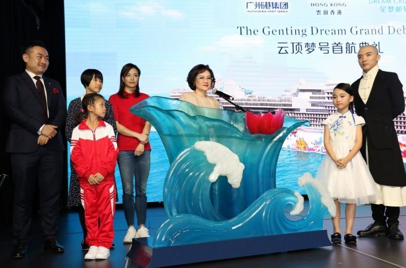 Genting Dream's official Godmother was Puan Sri Cecilia Lim, the wife of Tan Sri Lim Kok Thay, Chairman and Chief Executive Officer of Genting Hong Kong.