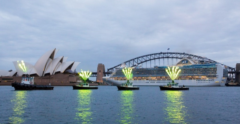 Emerald Princess welcomed to Sydney