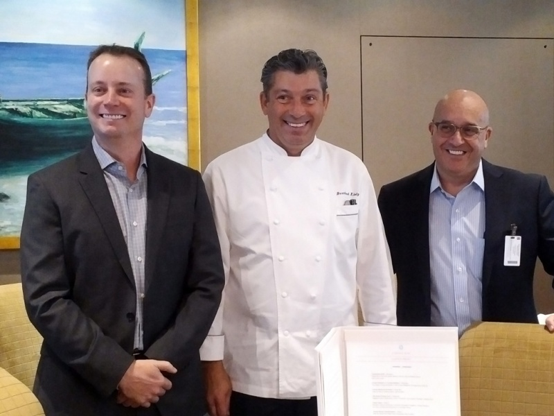 From Left: Jason M. Montague, president and CEO; Bernard Klotz, senior director of culinary; and Franco Semeraro, senior vice president of hotel operations.