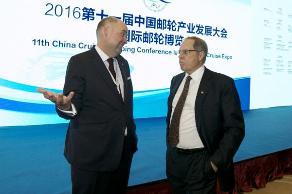 From left: Michael Ungerer, COO Asia, Carnival Corporation; and Alan Buckelew, COO, Carnival Corporation