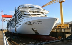 Meraviglia is the first of a new class of ships for MSC Cruises, Bellissima comes next, in 2019.