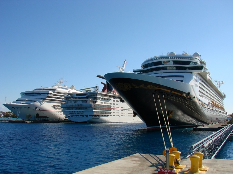 Ships docked in Nassau