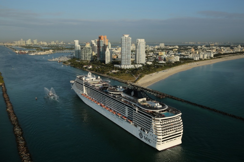 MSC Ship in Miami