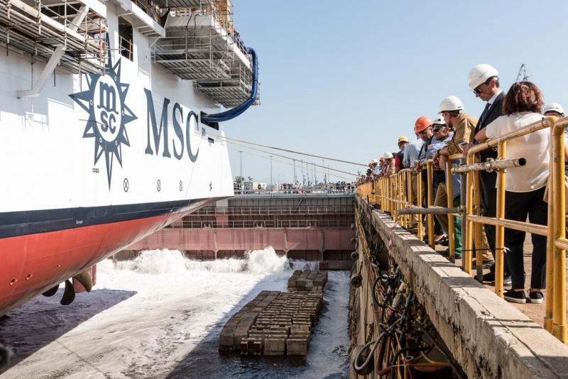 MSC Seaview Float Out
