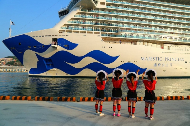 The Majestic Princess makes a call to Keelung in June.