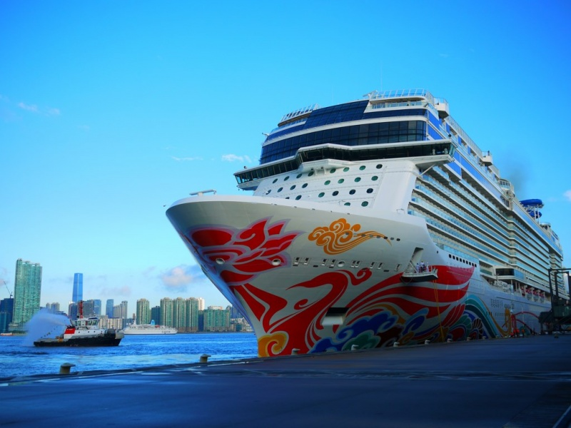 Norwegian Joy at Kai Tak Cruise Terminal in Hong Kong