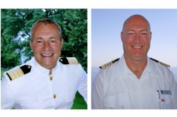 (Pictured above from left to right, Hotel Director Helmut Huber and Captain Stig Betten)