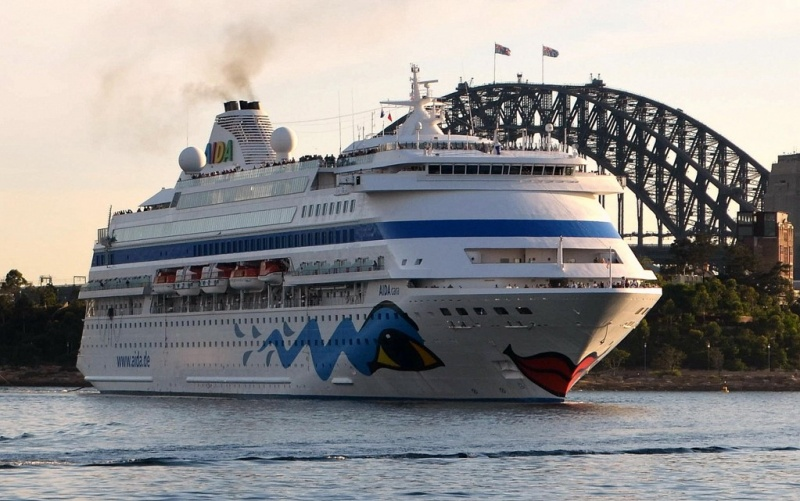 AIDAcara in Sydney Harbor (Photo: Clyde Dickens)