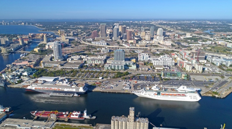 The Rotterdam is joined by the Empress of the Seas on a double-call day in Tampa.