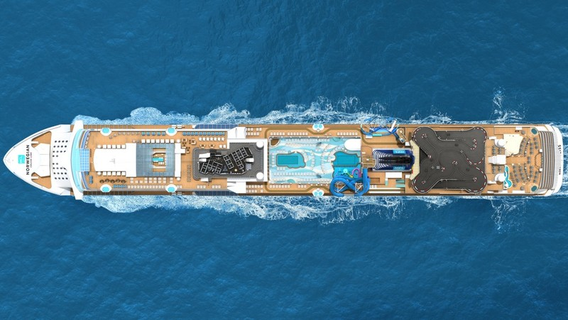 Aerial view of the Norwegian Bliss