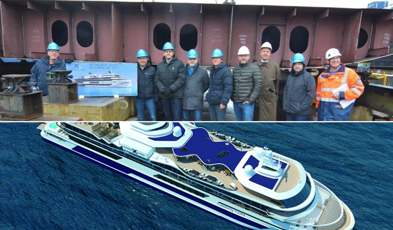 At the Keel Laying of the Celebrity Flora