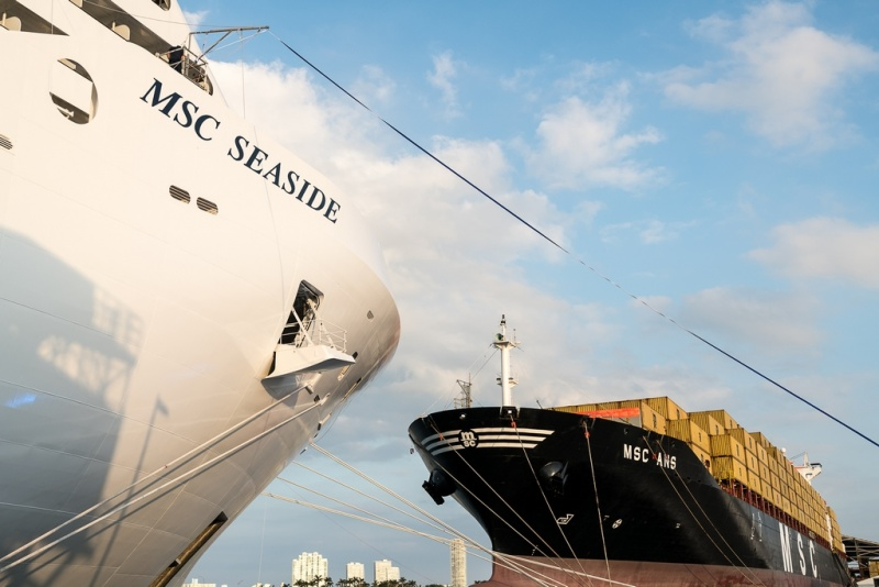MSC Seaside and MSC Ans Come Together to Celebrate New Addition to the Fleet (photo: Ivan Sarfatti)