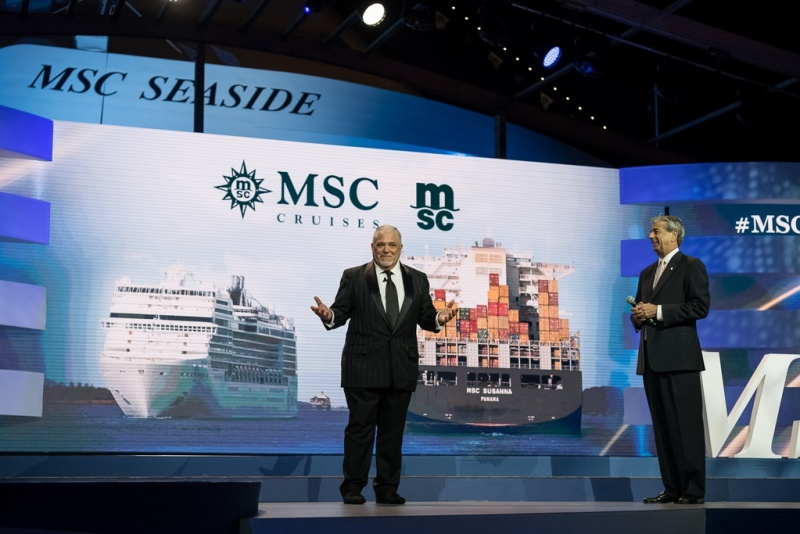 Executive Vice President of MSC Mediterranean Shipping Company USA, Allen Clifford and MSC Cruises USA Chairman, Rick Sasso (photo: Ivan Sarfatti)