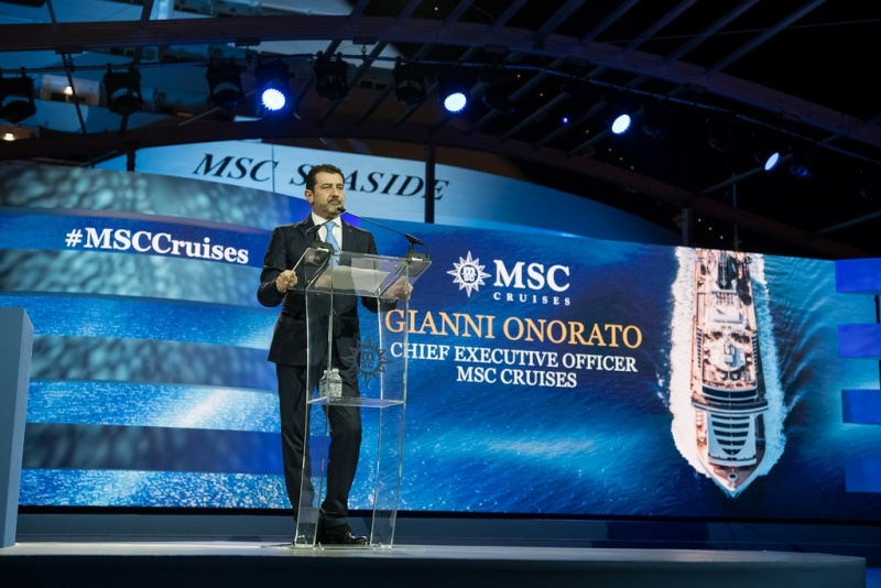 Gianni Onorato, CEO of MSC Cruises, is Happy to Present New Vessel to Miami  (photo: Ivan Sarfatti)
