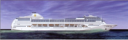 Artist's rendering of MSC's new ships being built at Chantiers de I'Atlantique for deliveries in 2003 and 2004