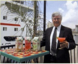 Bill Fennell vice president of cruise ship sales and service for Vitality with the new line of frozen cocktail mixes