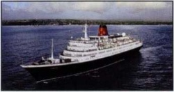 Cunard Lines Caronia which was switched over to British clientele in May