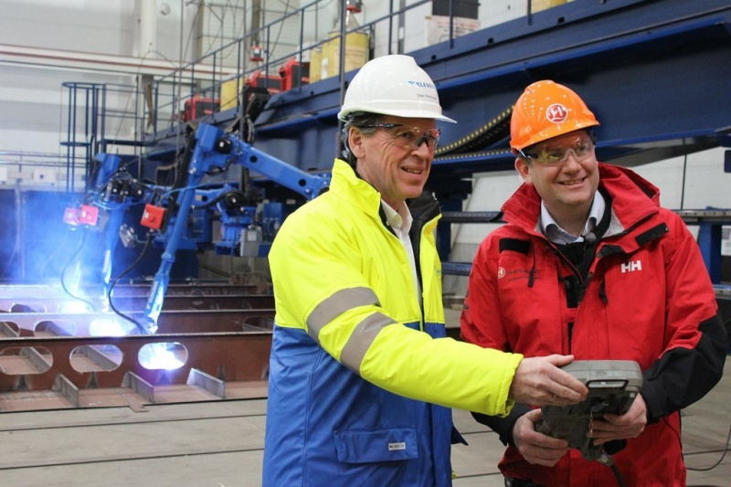Steel cutting for Hurtigruten at Kleven earlier this year
