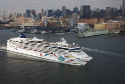 Norwegian Dawn sails from New York