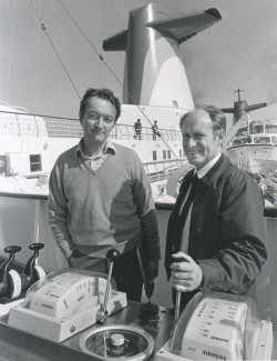 Knut Ulstein Kloster (left) and Captain Torbjorn Hauge on the Norway