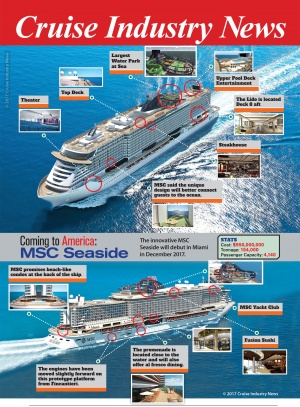 MSC Seaside Infographic by Cruise Industry News