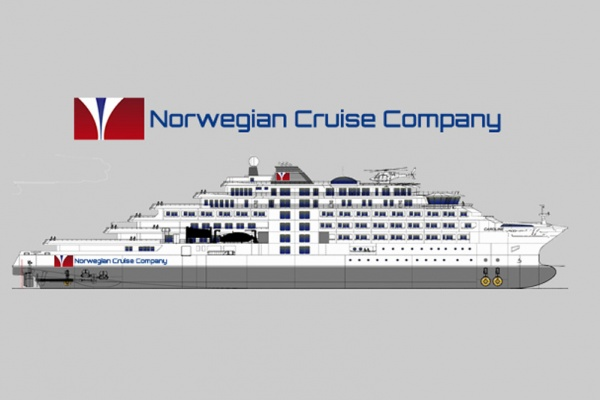 Norwegian Cruise Company Ship Rendering