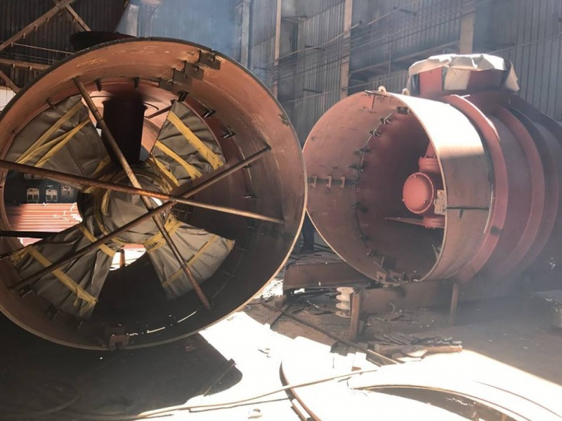 Azipod Thrusters ready for mounting to hull.