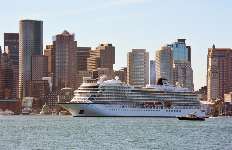 Viking Sky Sails from Boston