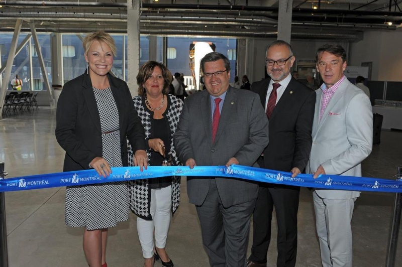 A successful inauguration with, from left to right: Isabelle Melançon, Sylvie, Denis Coderre, Aref Salem and Yves Lalumière / a successful inauguration with, from left to right: Isabelle Melançon, Sylvie Vachon, Denis Coderre, Aref Salem and Yves Lalumière