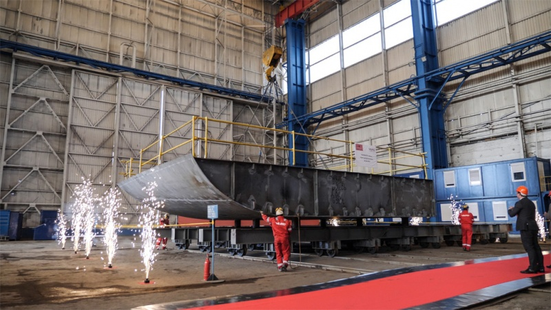 Keel laying
