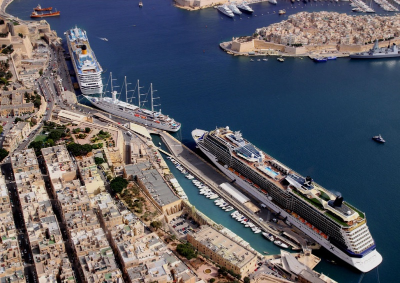 Ships docked in Valletta