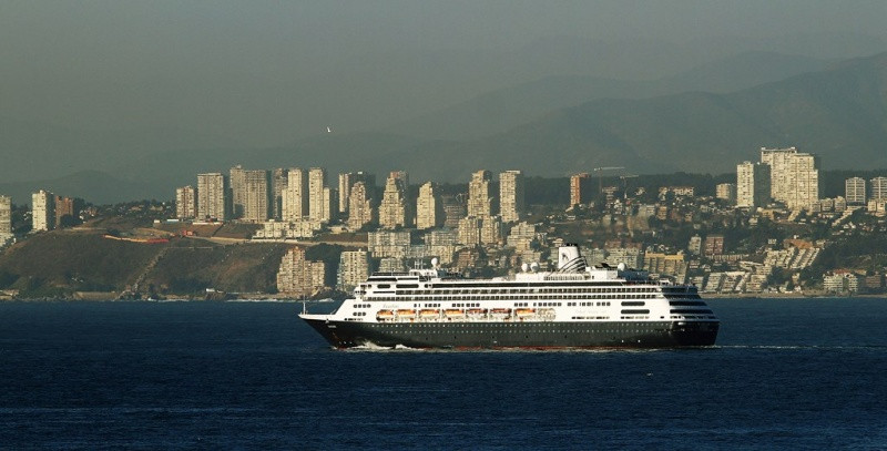 Holland America Line vessel in Valparaiso