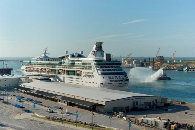 The Vision of the Seas sails from Galveston