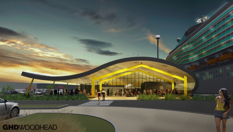 Newcastle Cruise Terminal Rendering