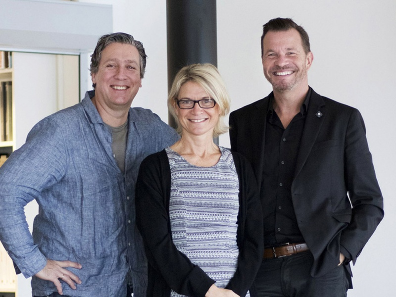 From left: Michal Jackiewicz, owner and executive project director; Karin Falk, owner and concept department director; Fredrik Johansson, owner and executive project director